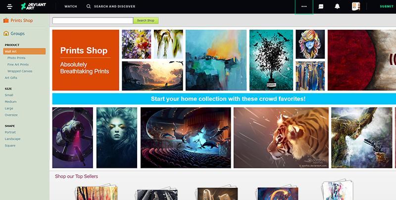 situs kerja kreatif penghasil uang dan kerja online DeviantArt